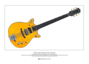 Malcolm Young's Gretsch 6131 Jet Firebird Limited Edition Fine Art Print A3 size