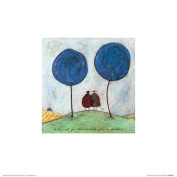 The Art Group Sam Toft (the Day I Met You) Mounted Print, Paper, Multi-Colour, 30 x 30 x 1.3 cm