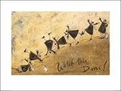 The Art Group Watch This, Doris Sam Toft Art Print, Paper, Multi-Colour, 60 x 80 x 1.3 cm