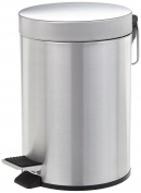 Pedal bin trash can cosmetics bin bathroom 3l satin stainless steel