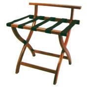 Garcia de Pou Wooden Folding Luggage with Back, Wood, Red, 60 x 45 x 67 cm