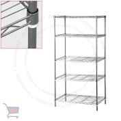 TMZ ©-5 Tier Heavy Duty Steel Kitchen Garage Storage Shelving Shelf Rack