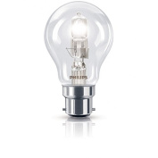 Pack of 4 - Dimmable - Philips 28W=40W BC B22 Energy Saving EcoClassic Halogen GLS Bulbs