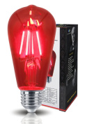 Ambient 4w Vintage LED Filament Red Light Bulb E27 Clear Glass Edison Classic ST58