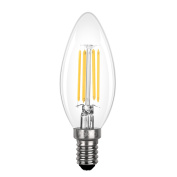Candle Bulb 3.5W E14 LED Filament, Candelabra Light Bulb Incandescent Equivalent 40W, 2700K Warm White, 430lm and 360°Beam Angle