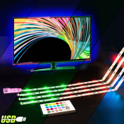 LED TV Backlight, 2M RGB USB Led Strip Neon Lights with Remote Control for HDTV, Bias Lighting