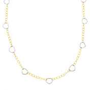 Simply Gold Open Heart Link Necklace in 14kt Two-Tone Gold