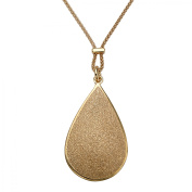 Pear-Shaped Textured Drop Pendant in 14kt Gold-Plated Sterling Silver