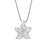 Aya Azrielant Starfish Pendant Necklace with Crystals in Sterling Silver