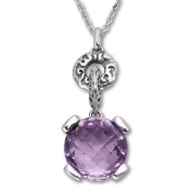 Evert deGraeve 6 1/4 ct Amethyst Pendant Necklace in Sterling Silver
