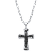 Steeltime Men's Two-Tone Stainless Steel Crucifix Pendant