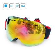 Ski Goggles-UV 400 Anti-fog Winter Outdoor Sport Skiing Goggles