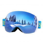 Supertrip Ski Goggles Over Glasses UV400 Anti-fog Skiing / Snowboard Goggles for Men & Women Professional Snowmobile Skate Goggles