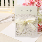 10x Wedding Invitation Envelope - Lace, Card, Laser Cut, Vintage, Party, Gift