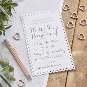 Ginger Ray White Scalloped Wedding Evening / Reception Invitations x 10 invites - Beautiful Botanics