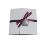 10 Sleeves Invitation with card and decoración- 10 Wedding Cards