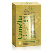 Camellia Shampoo and Hair Conditioner, tiande 20143, 220 g + 100 g, Immerse yourself in What Exotic