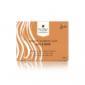 Flow Cosmetics Shampoo Soap Beer & Egg | Volume For Thin Hair | All Natural Formula| Organic Ingredients | Sulphate Free & Preservative Free | Organic Shampoo Soap