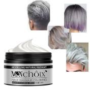 JUHON Silver Colour Hair Wax, Professional Hair Wax Natural Matte Hairstyle Hair Dye Wax for Party Cosplay