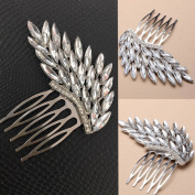 Elegant Crystal Hair Side Clip Bridal Prom Party Comb Rhinestone Clamp Clips Pins Women