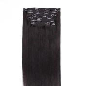 Clip in Hair Extensions – Double Drawn – 220 g – Black