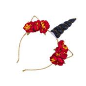 JasmineLi Lovely Girls Unicorn Horn Ears Shape Hair Hoop Headband for Festival Birthday Theme Party Ornamant