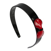 Bow Alice Band Black/Red