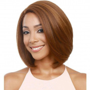 Short Hair Fashion Lady Side Bangs Golden