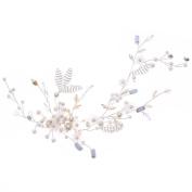 Demiawaking Bridal Hair Accessories Crystal Pearls Headbands Hair Bands Clips Pins Head Wear for Women