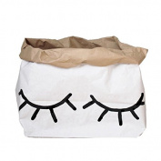 Tellkiddo Storage Bag Closed Eye Small, Paper, Black/White, 55 x 22 x 40 cm