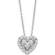Keepsake Tenderness 1/3 Carat T.W. Certified Diamond 10kt White Gold Heart Pendant