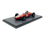 Spark –S5253 – VEHICLE MINIATURE – BRABHAM BT11 – GP Monaco 1965 – Scale 1/43, Orange/White