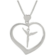 Lavaggi Jewellery Sterling Silver Angelic Love Pendant Necklace, 46cm Chain
