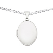 Sterling Silver Rhodium-plated Polished 21mm 2-Frame Oval Locket