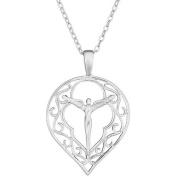 Lavaggi Jewellery Sterling Silver Resplendent Angel Pendant Necklace, 46cm Chain
