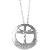Lavaggi Jewellery Sterling Silver Circle Of Faith Pendant Necklace, 46cm Chain
