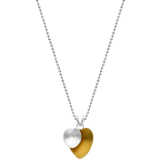 5th & Main Sterling Silver and 14kt Gold-Plated Abstract Double Heart Pendant with Chain