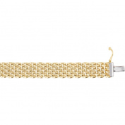 """14K Yellow Gold 10.25mm Panther 17"""" Chain"""