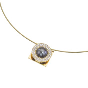 Interchangeable 18K Gold Pearl & Diamond Pendant