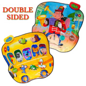 Matashi Dimple Double Sided Animal Bus & 1-Man-Band Playable Touch Sensitive Music Mat with 20 Sounds & 6 Songs by Dimple