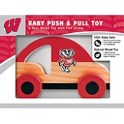 Wisconsin Badgers Push & Pull Wood Toy