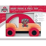 Ohio State Buckeyes Push & Pull Wood Toy