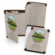 Woodland Creatures - Baby Shower Games - Fabulous 5 - Set of 12