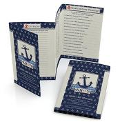 Ahoy - Nautical - Baby Shower Games - Fabulous 5 - Set of 12