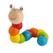 Wooden Twisty Wiggly Worm Multicolour Sensory Kids Children Boys Girls Colourful Wooden Worm Sensory Wood Bead Toy