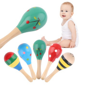 5pcs Baby Kids Sound Music Gift Toddler Rattle Musical Wooden Colourful Toys