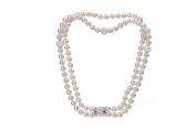 Yozone White Pearl Choker, Fashion Elegant Collarbone Necklaces Pendants jewellery for Women or Girls Gift