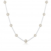 """Necklace for Women Cultured Freshwater Pearl with 18""""and 4.5cm Stainless Extension Chain Bridal Jewellery"""