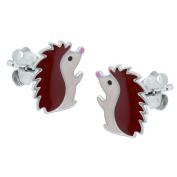 Sterling Silver Hedgehog Earrings