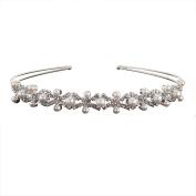 Multiware Bridal Wedding Diamante Rhinestone Crown Princess Pearl Hair Tiara Party Prom Headband